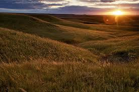 Setting prairie  sun